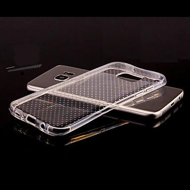 Coque Pour Samsung Galaxy Samsung Galaxy S7 Edge Transparente Relief Coque Couleur unie TPU pour S8 Plus S8 S7 edge S7 S6 edge S6