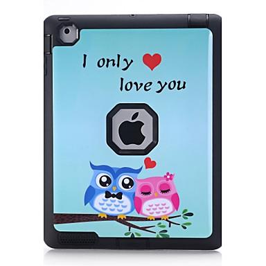 tok Για Apple iPad 4/3/2 Ανθεκτική σε πτώσεις Με σχέδια Πλήρης Θήκη Κουκουβάγια Σκληρή TPU για iPad 4/3/2 Apple