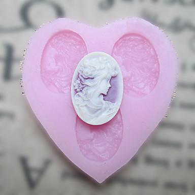 Üç Delik Şekil Kalp Pastalar için Fondan Kalıplar Şeker Craft Araçları Reçine çiçek Kalıp Kalıplar Şekilli