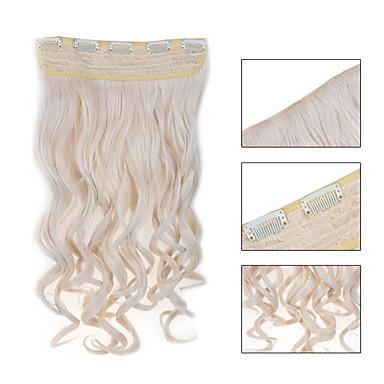5 clips ondulado 60 # grampo de cabelo sintético em extensões de cabelo para senhoras mais cores disponíveis