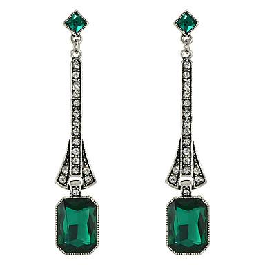 Cercei Picătură Aliaj Alb Negru Verde Bijuterii Pentru Casual 1 pereche