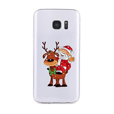 Pouzdro Uyumluluk Samsung Galaxy S7 edge S7 Şeffaf Temalı Arka Kılıf Noel Yumuşak TPU için S7 edge S7 S6 edge plus S6 edge S6 S6 Active