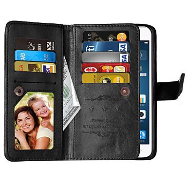 Huawei p9 artı kart tutucu cüzdan kılıfı için tam gövde kılıfı sağlam renk sert pu deri