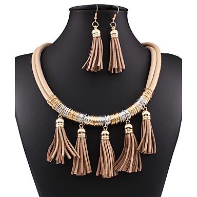Σετ Κοσμημάτων Κοσμήματα Μαύρο Καφέ Κόκκινο Μπλε 1 Κολιέ 1 Ζευγάρι σκουλαρίκια Για Γάμου Πάρτι Ειδική Περίσταση Γενέθλια Αρραβώνας Causal
