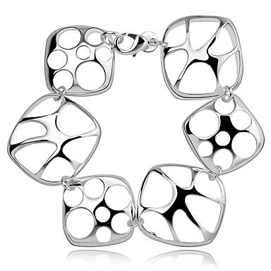Damskie Bransoletki i łańcuszki na rękę Spersonalizowane Artystyczny Frędze Modny List Miedź Posrebrzany Geometric Shape Biżuteria