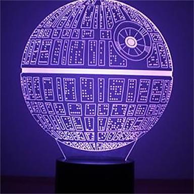 1개 3D 야간 조명 장식 LED