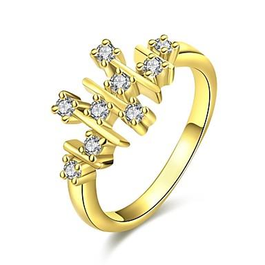 Γυναικεία Δαχτυλίδι Cubic Zirconia Ζιρκονίτης Cubic Zirconia Χαλκός Geometric Shape Κοσμήματα Καθημερινά Causal