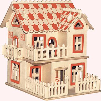 Puzzle Lemn Clădire celebru Arhitectura Chineză Casă nivel profesional De lemn 1pcs Stil European Pentru copii Băieți Cadou