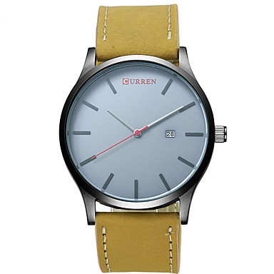 CURREN Męskie Kwarcowy Zegarek na nadgarstek Wodoszczelny Skóra Pasmo Na co dzień Modny Czarny Brązowy