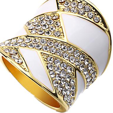 Pierścionki Casual Biżuteria Stop Damskie Pierscionek 1szt,Regulacja Biały