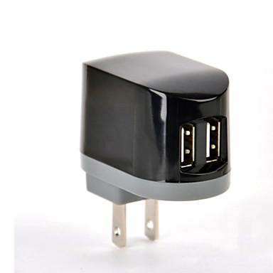 ul gecertificeerd dual usb lader, 5v 2.1a-uitgang, ons stekker gezicht, voor iPhone 5 / 5s / 5c iphone 6 / plus ipad 2/3/4 / mini / lucht