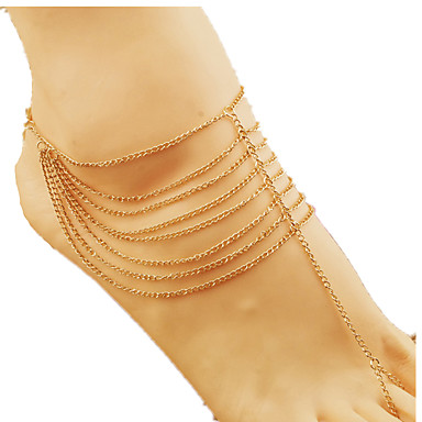 των γυναικών αυξήθηκε χρυσό anklet 1pc κοσμήματα