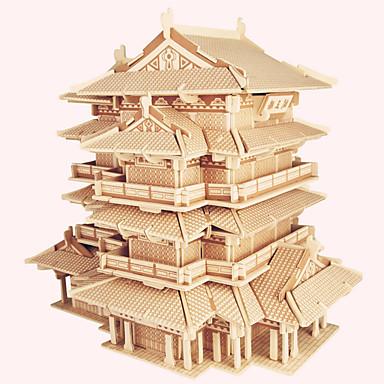 تركيب خشبي بناء مشهور الزراعة الصينية بيت المستوى المهني خشبي 1pcs للأطفال صبيان هدية