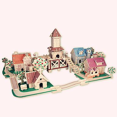 تركيب خشبي بناء مشهور الزراعة الصينية بيت المستوى المهني خشب 1pcs رومانسي للأطفال فتيات صبيان هدية