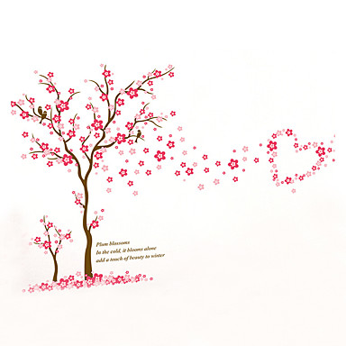 النباتية أزياء المزين بالأزهار ملصقات الحائط لواصق حائط الطائرة لواصق حائط مزخرفة,الفينيل مادة قابل للغسيل قابل للنقل قابل اعادة الوضع