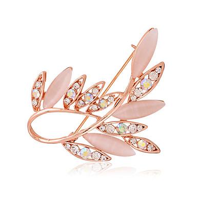 Naisten Rintaneulat jäljitelmä Diamond Muoti Hopea Kultainen Korut Häät Party Päivittäin Kausaliteetti