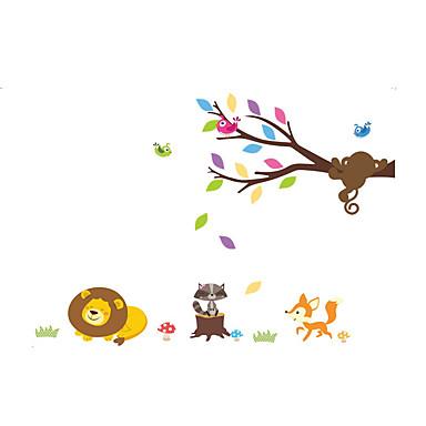 Zwierzęta Moda Botaniczny Naklejki Naklejki ścienne lotnicze Dekoracyjne naklejki ścienne, Winyl Dekoracja domowa Naklejka Ściana Szkło /