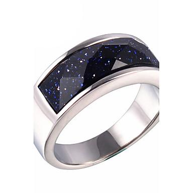 Bărbați Inel Inel de declarație Argintiu Pietre sintetice Oțel titan Galaxie Modă Zilnic Casual Costum de bijuterii