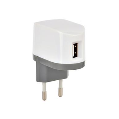 Οικιακός φορτιστής / Φορητός φορτιστής Φορτιστής USB Ευρωπαϊκή Πρίζα 1 θύρα USB 1 A
