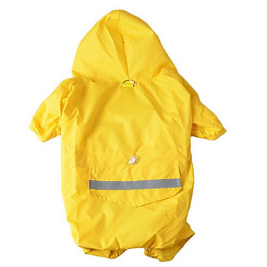 ieftine Imbracaminte & Accesorii Căței-Câine Haină de ploaie Îmbrăcăminte Câini Mată Culoare Camuflaj Galben Rosu Material Textil Costume Pentru Primăvara & toamnă Vară Bărbați Pentru femei Impermeabil Sport