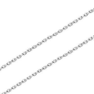 Kadın Zincir Kolyeler Mücevher Tek Dizi Som Gümüş Basic Tasarım Mücevher Uyumluluk Doğumgünü Günlük