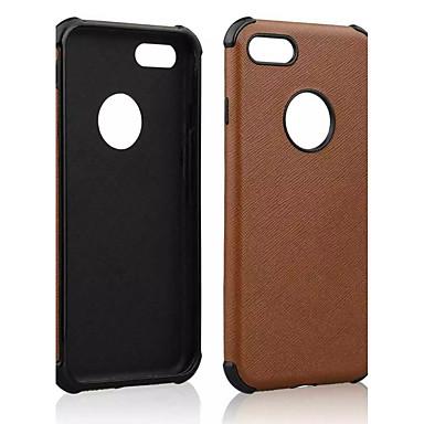 Maska Pentru Apple iPhone 6 iPhone 7 Plus iPhone 7 Anti Șoc Capac Spate Culoare solidă Moale PU piele pentru iPhone 7 Plus iPhone 7