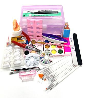 20sets ποσότητα συσκευασίας κιτ καρφί καρφί διακόσμηση τέχνης τύπο στυλ τέχνη νυχιών DIY κουτί