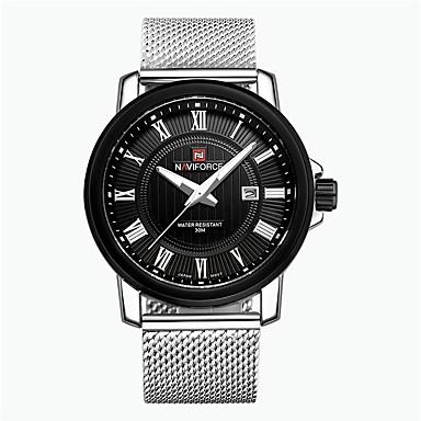 Erkek Spor Saat Asker Saat Elbise Saat Moda Saat Bilek Saati Quartz Dijital Takvim Alaşım Bant Eski Tip İhtişam Günlük Çok-RenkliBeyaz