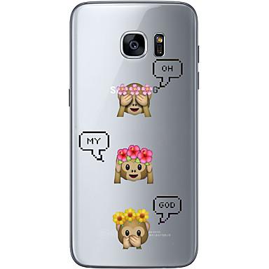 Etui Käyttötarkoitus Samsung Galaxy S7 edge S7 Ultraohut Läpinäkyvä Kuvio Takakuori Piirretty Pehmeä TPU varten S7 edge S7 S6 edge plus