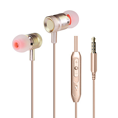 Huastay KDK-203 Kulakta Kablolu Kulaklıklar Dinamik Aluminum Alloy Cep Telefonu Kulaklık Mikrofon ile Ses Kontrollü HIFI kulaklık
