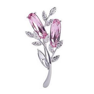 Γυναικεία Καρφίτσες Κοσμήματα Κρυστάλλινο Φλοράλ Ευρωπαϊκό Πετράδι Κοσμήματα Για Γάμου Πάρτι Καθημερινά Causal