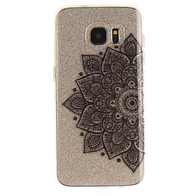 Pouzdro Uyumluluk Samsung Galaxy S7 edge S7 IMD Şeffaf Temalı Arka Kılıf Çiçek Yumuşak TPU için S7 edge S7 S3