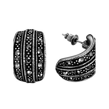 Kolczyki na sztyft Cyrkonia Oświadczenie Biżuteria minimalistyczny styl Modny sztuczna Diament Stop Geometric Shape Black Biżuteria Na