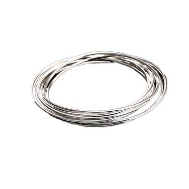 Kadın Bilezikler Kişiselleştirilmiş minimalist tarzı Som Gümüş Circle Shape Mücevher Uyumluluk Günlük