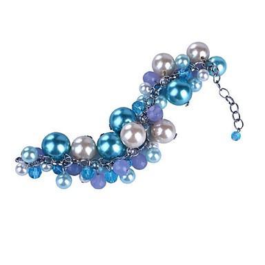 Kadın Tılsım Bileklikler Kristal Moda İnci İmitasyon İnci Cam alaşım Mücevher Uyumluluk Parti Günlük