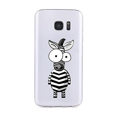 Maska Pentru Samsung Galaxy S7 edge S7 Transparent Model Carcasă Spate Desene Animate Moale TPU pentru S7 edge S7 S6 edge plus S6 edge S6