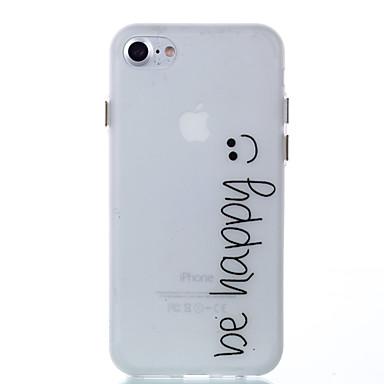 Pouzdro Uyumluluk Apple iPhone 8 iPhone 8 Plus Karanlıkta Parlayan Arka Kılıf Kelime / Cümle Yumuşak TPU için iPhone 8 Plus iPhone 8
