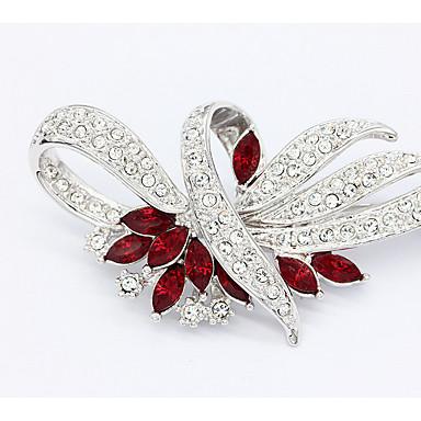Kadın Broşlar Mücevher Çiçekli Değerli Taş Mücevher Uyumluluk Düğün Parti Günlük