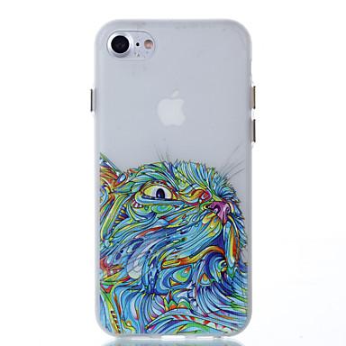 Pentru Carcase Huse Stralucire in intuneric Carcasă Spate Maska Bufniţă Moale TPU pentru Apple iPhone 7 Plus iPhone 7 iPhone 6s Plus