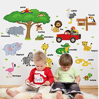 Animale Desene Animate Modă Perete Postituri Autocolante perete plane Autocolante de Perete Decorative,Hârtie Material Pagina de decorare