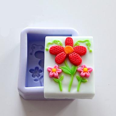 paistopinnan Flower for Cake Suklaa Other Candy Silikoni Ympäristöystävällinen Syntymäpäivä Loma Uusivuosi Kiitospäivä Tarttumaton