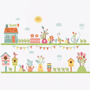 Moda Çiçekler Botanik Duvar Etiketler Uçak Duvar Çıkartmaları Dekoratif Duvar Çıkartmaları, Vinil Ev dekorasyonu Duvar Çıkartması Duvar