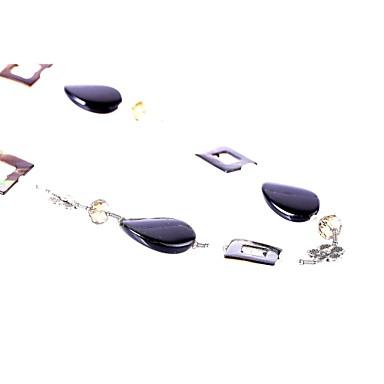 Kadın Zincir Kolyeler Onyx Tek Dizi Akik Deniz Kabuğu Cam Kabuk alaşım Moda Euramerican Mücevher Uyumluluk Parti Doğumgünü Günlük Yılbaşı