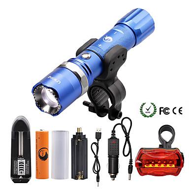 U'King Lanterne LED LED 2000 lm 5 Mod Cree XM-L T6 Cu Baterie și Încărcător Zoomable Focalizare Ajustabilă Intensitate Luminoasă Reglabilă