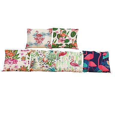 6 szt Bielizna Poszewka na poduszkę, Jendolity kolor Textured Styl plażowy Wałek Tradycyjny / Classic