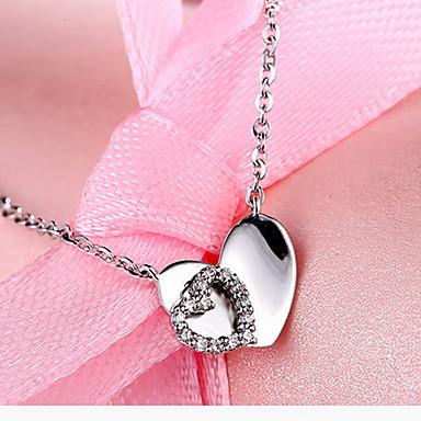Kolye Uçları Basic Tasarım Kalp Moda Som Gümüş