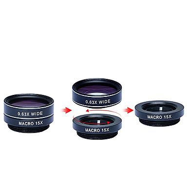 apexel 5 az 1-hd kamera objektív szett 198fisheye lens0.63x széles angle15x makro lens2x tele lenscpl lencse iPhone 7 6 / 6s 6 / 6s plus