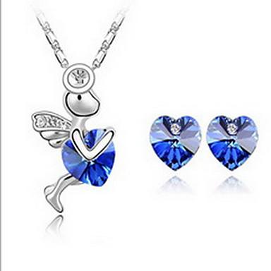 Biżuteria 1 Naszyjnik 1 parę kolczyków Kryształ Impreza Stop 1set Damskie Żółty Niebieski Zielony Fioletowy Różowy Błękit niebaPrezenty