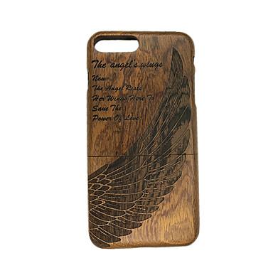 Varten Koristeltu Etui Takakuori Etui Höyhen Kova Puu varten Apple iPhone 7 Plus