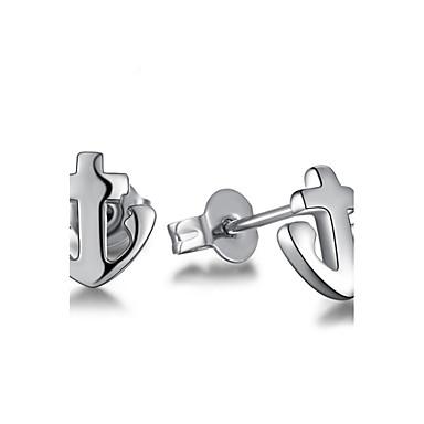 Kolczyki na sztyft Biżuteria Posrebrzany Stop Kotwica Biżuteria Silver Ślub Impreza Codzienny Casual Biżuteria kostiumowa